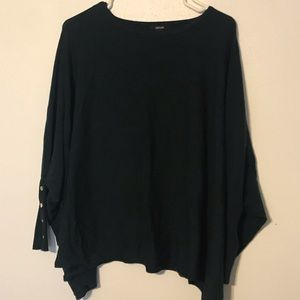 Forest green slouchy sweater